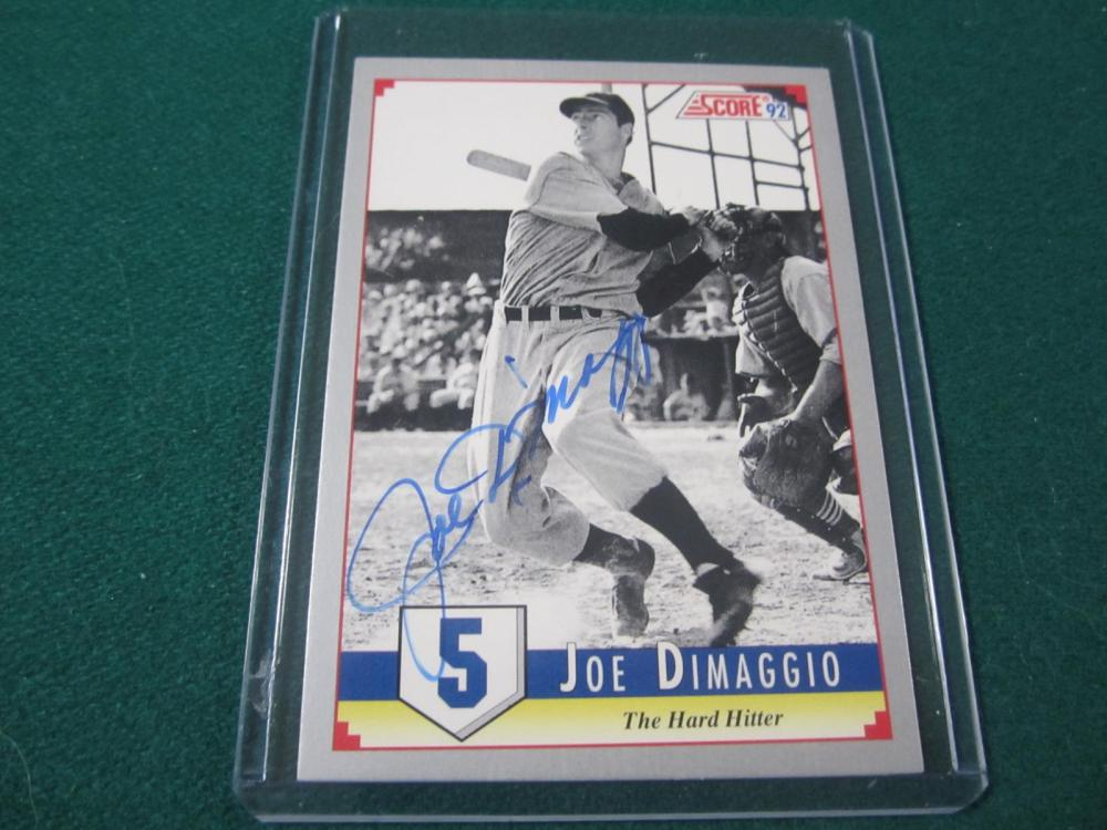 JOW DIMAGGIO SIGNED AUTOGRAPHED YANKEES CARD COA