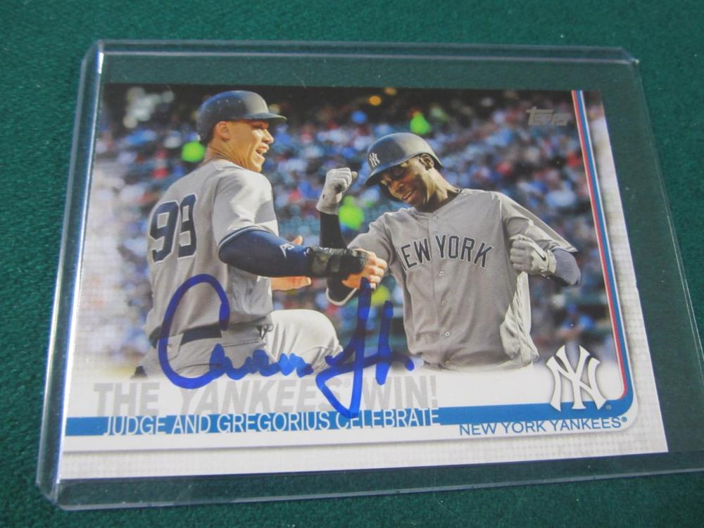 AARON JUDGE SIGNED AUTOGRAPHED YANKEES CARD COA