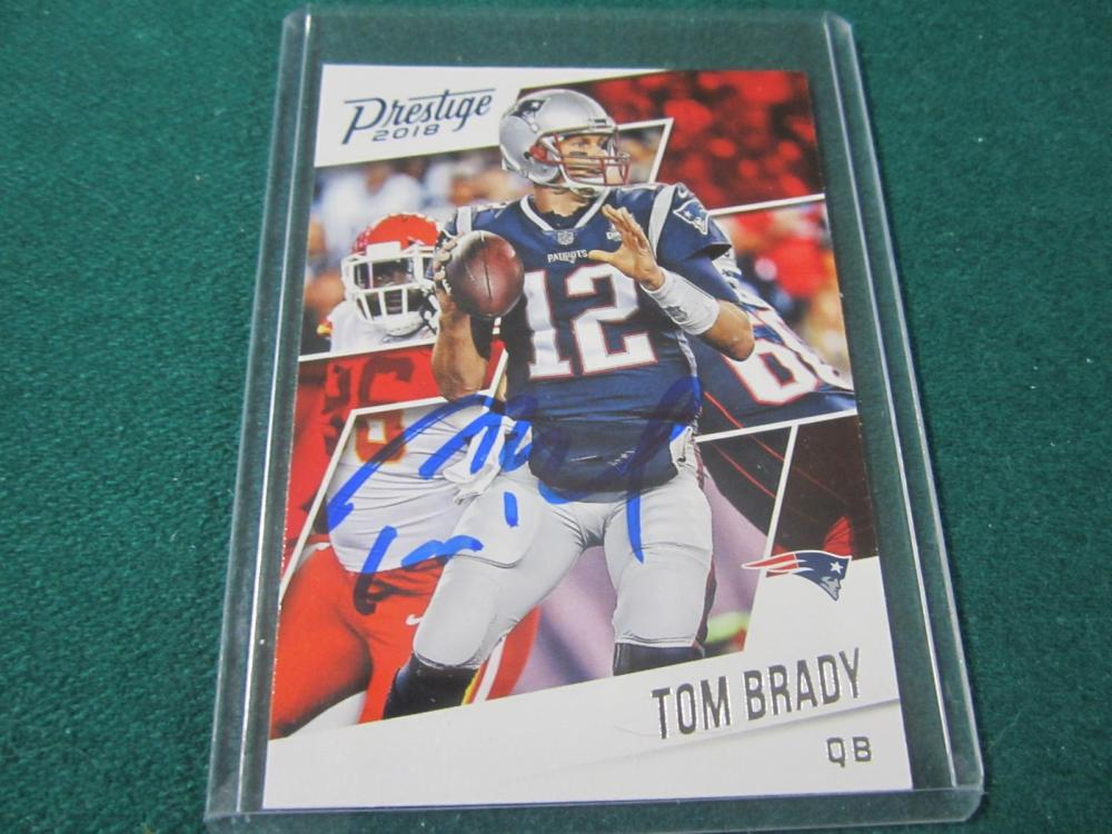 Lot 49: TOM BRADY SIGNED AUTOGRAPHED PATRIOTS CARD COA