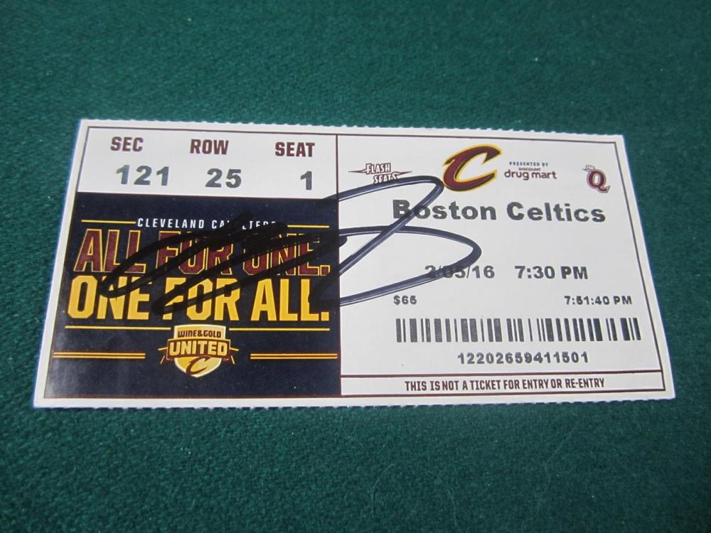 LEBRON JAMES SIGNED AUTOGRAPHED CAVALIERS TICKET STUB COA