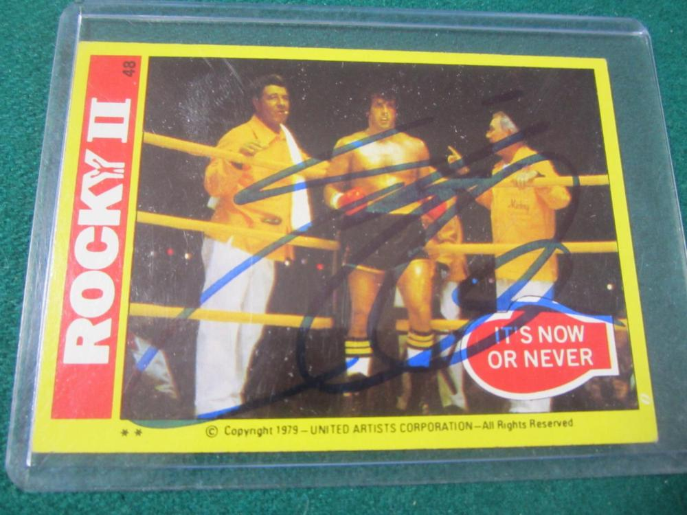 SYLVESTER STALLONE SIGNED AUTOGRAPHED ROCKEY CARD COA