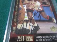 Lot 58: MICHAEL JORDAN SIGNED AUTOGRAPHED BULLS CARD COA
