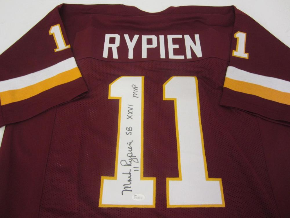 MARK RYPIEN SIGNED AUTOGRAPHED REDSKINS JERSEY W/INSCRIPTIONS JSA COA