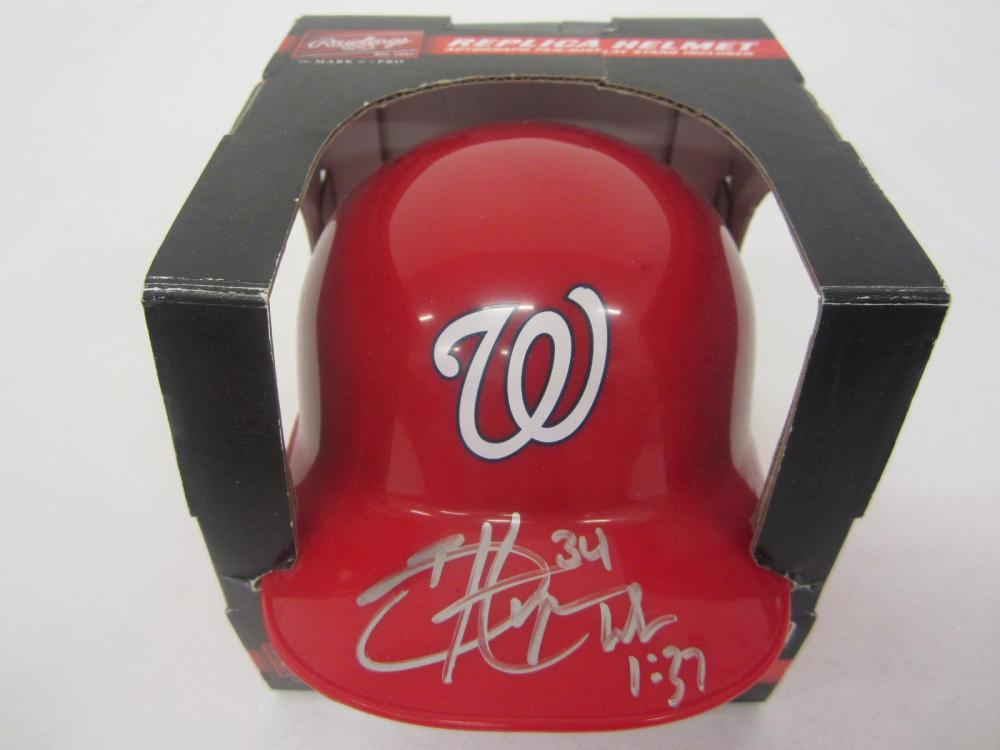 BRYCE HARPER SIGNED AUTOGRAPHED NATIONALS MINI HELMET COA