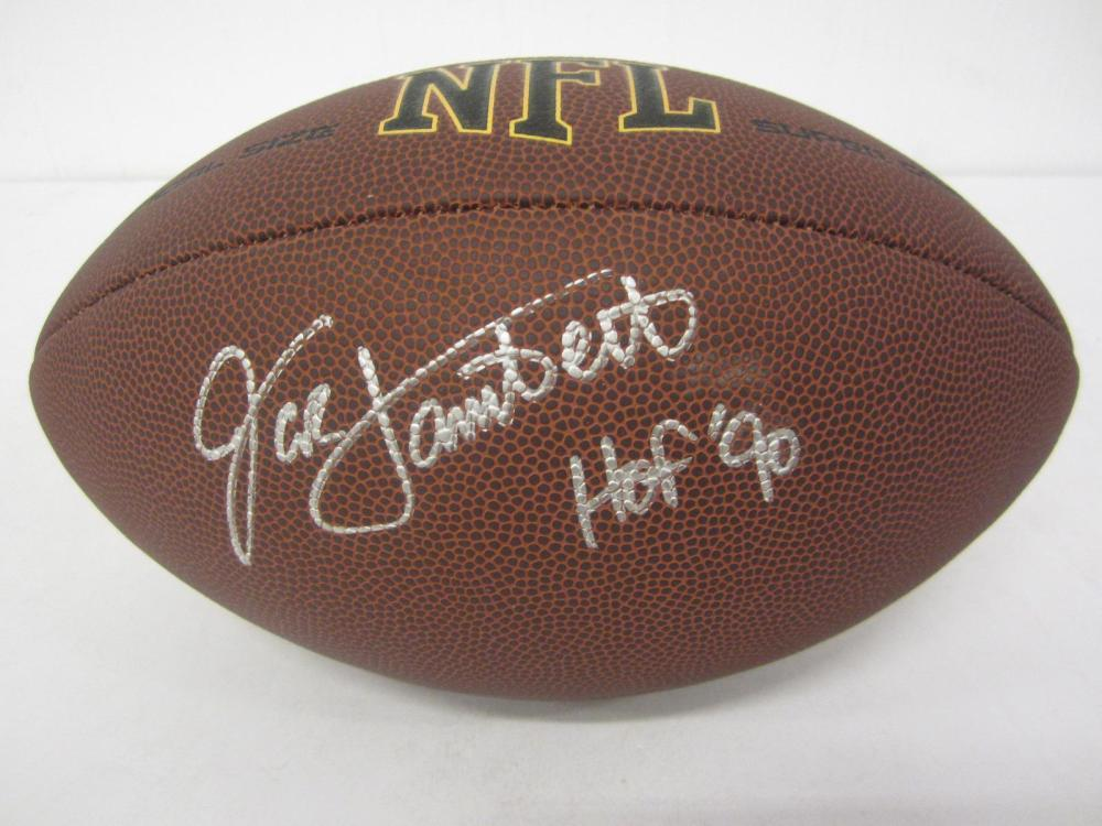 JACK LAMBERT SIGNED AUTOGRAPHED NFL SUPERGRIP FOOTBALL COA