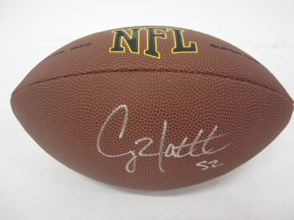 CLAY MATTHEWS SIGNED AUTOGRAPHED NFL SUPERGRIP FOOTBALL COA