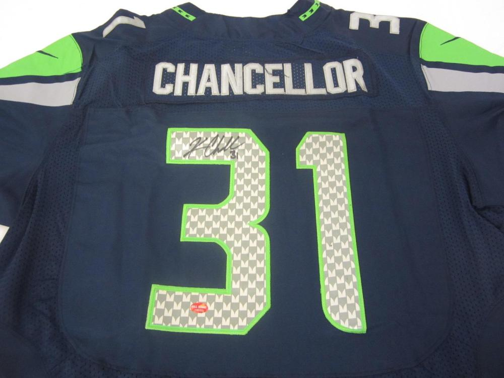 KAM CHANCELLOR SIGNED AUTOGRAPHED SEAHAWKS JERSEY COA