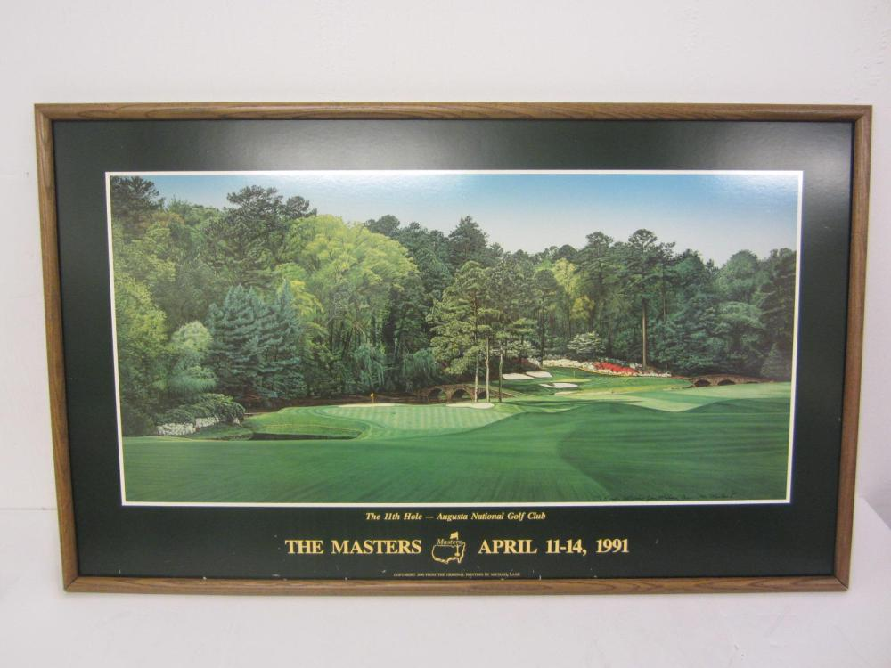 "THE MASTERS ""11TH HOLE"" FRAMED POSTER"