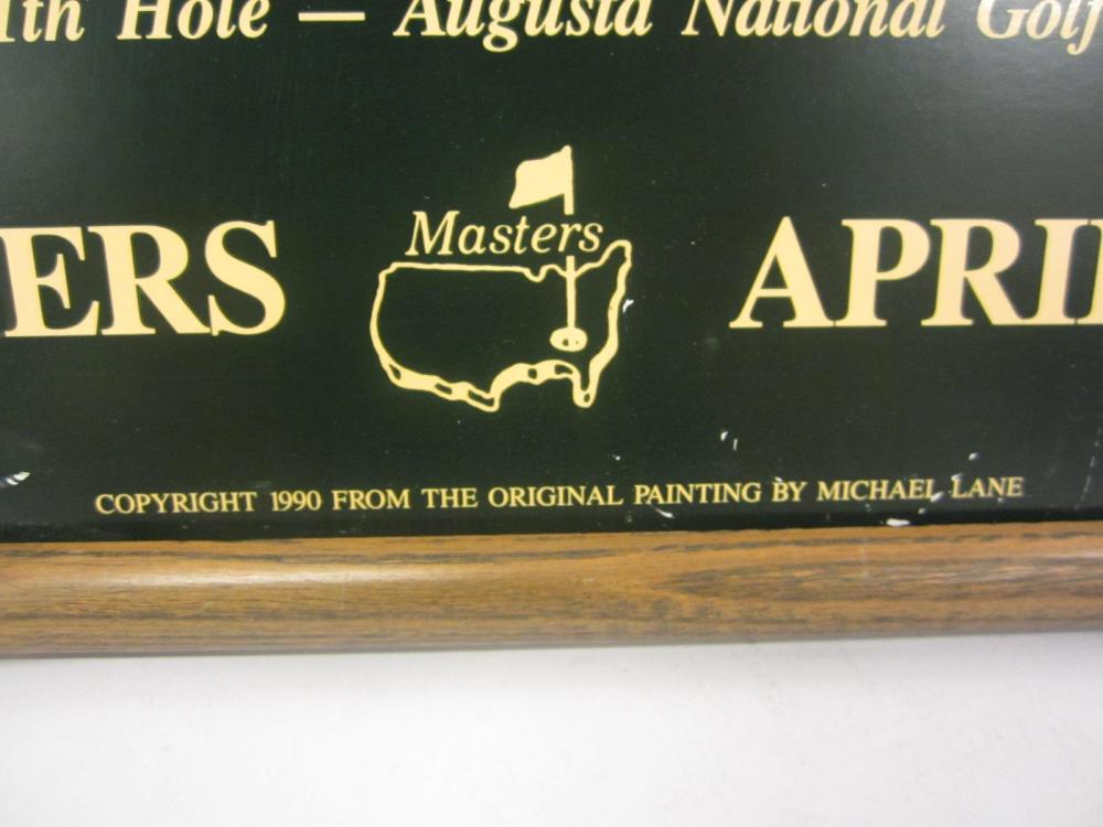"""Lot 78: THE MASTERS """"11TH HOLE"""" FRAMED POSTER"""