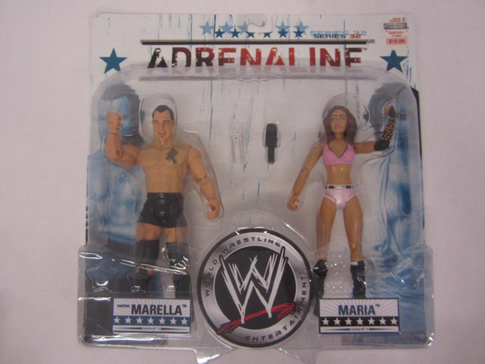 WWE ADRENALINE MARELLA,MARIA FIGURES SEALED