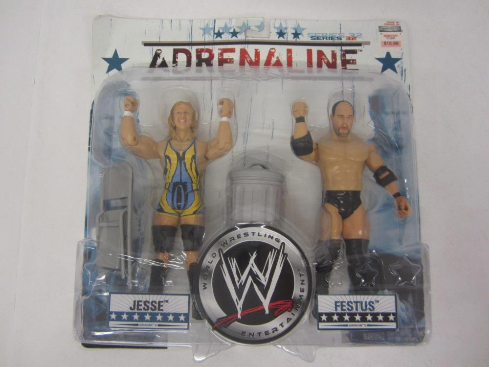 WWE ADRENALINE JESSE,FESTUS FIGURES SEALED