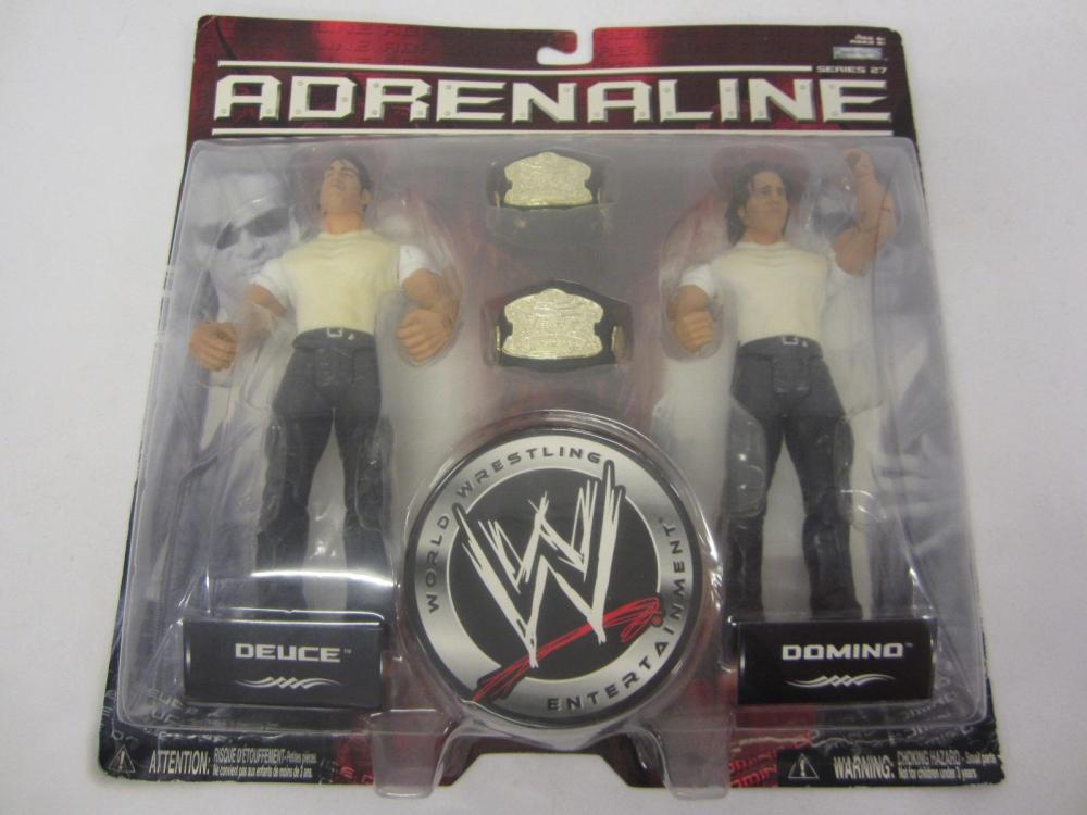 WWE ADRENALINE DEUCE,DOMINO FIGURES SEALED