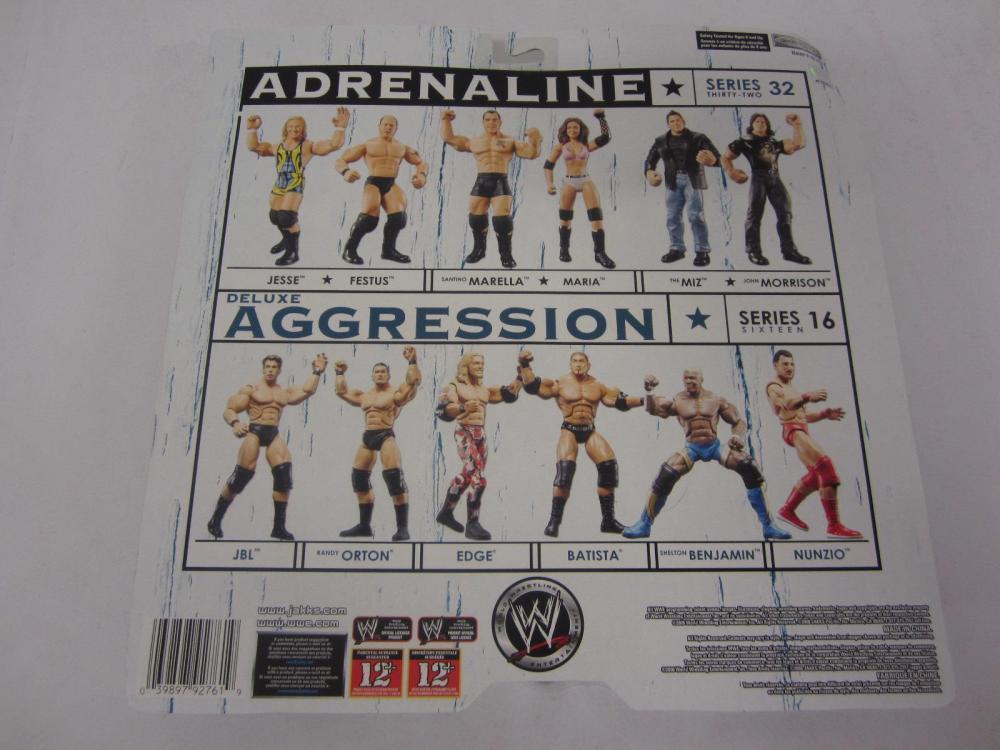 Lot 81: WWE ADRENALINE JESSE,FESTUS FIGURES SEALED