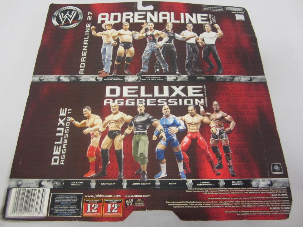 Lot 82: WWE ADRENALINE DEUCE,DOMINO FIGURES SEALED