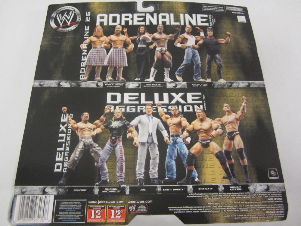 Lot 87: WWE ADRENALINE RORY MCALLISTER,ROBBIE MCALLISTER ACTION FIGURES SEALED