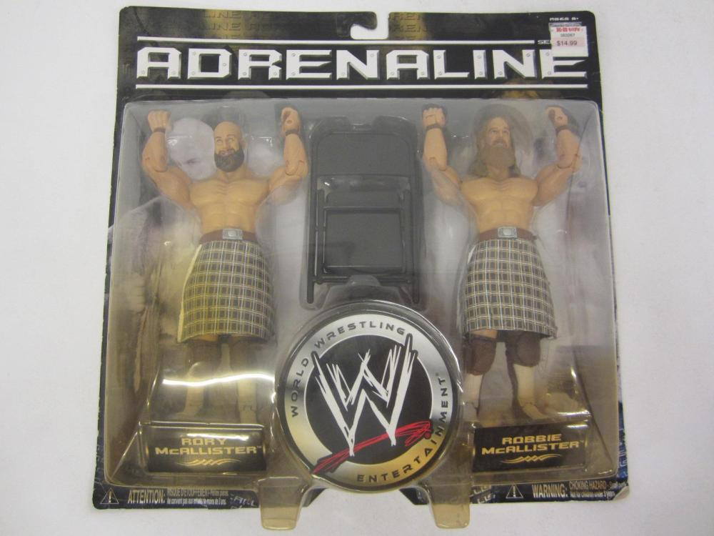 WWE ADRENALINE RORY MCALLISTER,ROBBIE MCALLISTER ACTION FIGURES SEALED