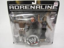 Lot 98: WWE ADRENALINE KING BOOKER,QUEEN SHARMELL FIGURES SEALED