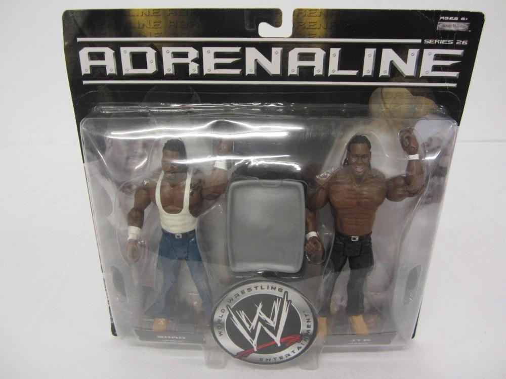WWE ADRENALINE SHAO,JTG FIGURES SEALED