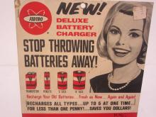 Lot 109: FEDTRO DELUXE BATTERY CHARGER WITH POSTER