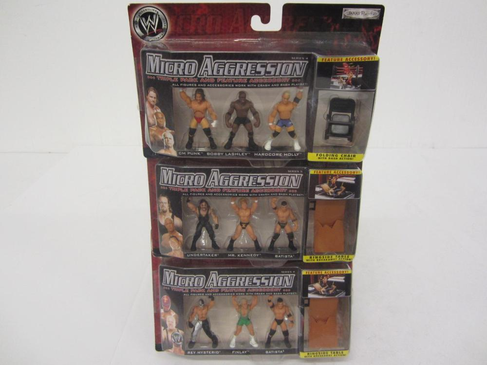 WWE MICRO AGGRESSION 9 FIGURES SEALED