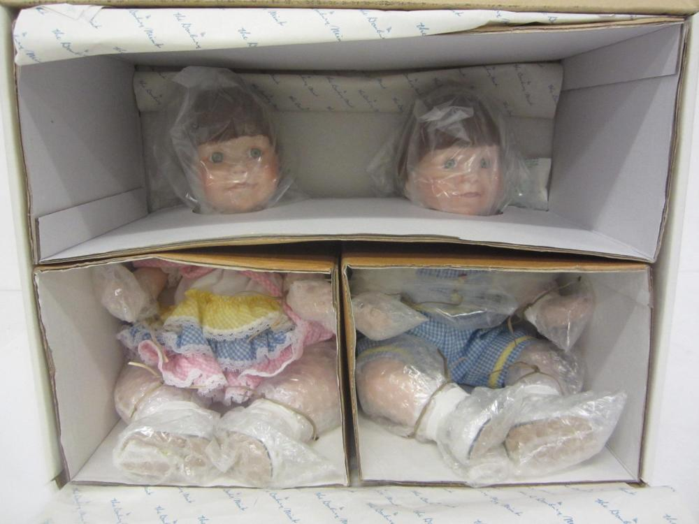 KATIE & KENNY DOLLS DANBURY MINT WITH BOX AND PAPERWORK