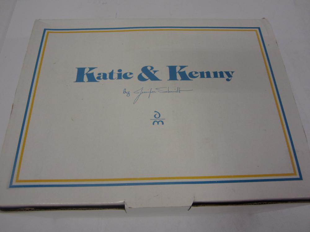 Lot 128: KATIE & KENNY DOLLS DANBURY MINT WITH BOX AND PAPERWORK