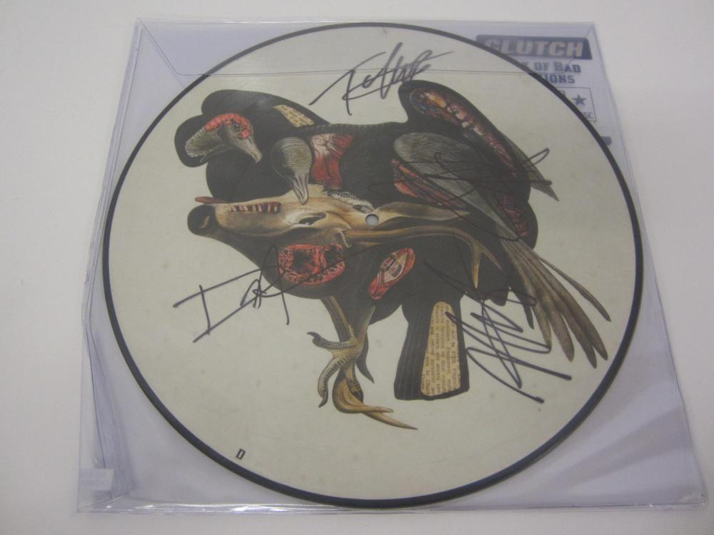 CLUTCH BAND SIGNED AUTOGRAPHED RECORD COA TIM,JEAN,NEIL