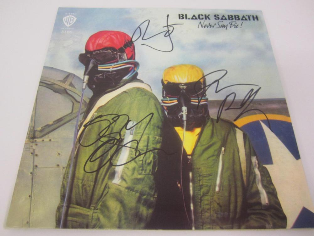 BLACK SABBATH BAND SIGNED AUTOGRAPHED RECORD COA OZZY,GEZER,BILL