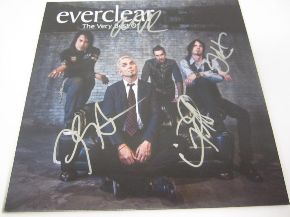 EVERCLEAR BAND SIGNED AUTOGRAPHED RECORD COA ART,FREDDY,DAVE,SEAN