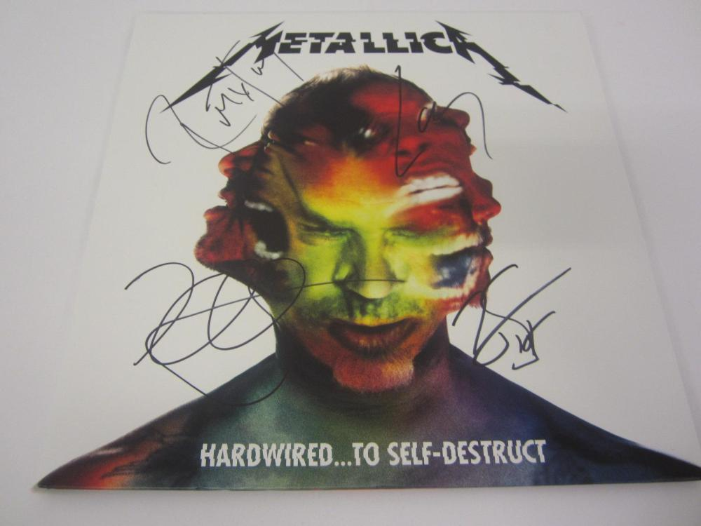 METALLICA BAND SIGNED AUTOGRAPHED RECORD COA ROBERT,LARS,JAMES,KIRK