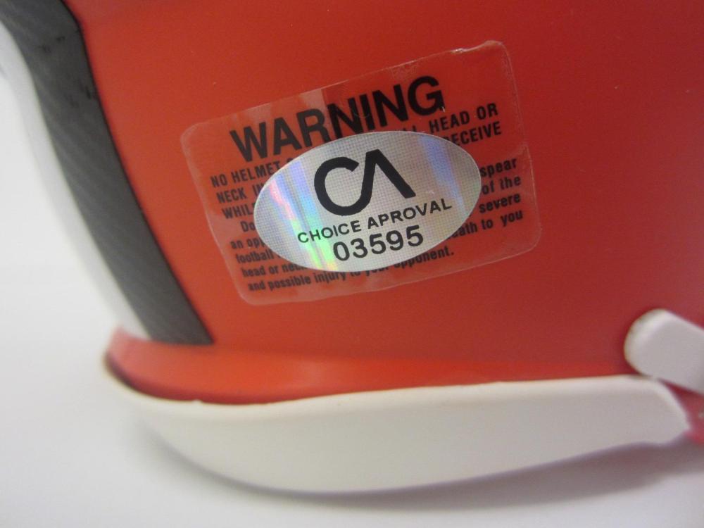 Lot 145: BAKER MAYFIELD SIGNED AUTOGRAPHED BROWNS MINI HELMET COA