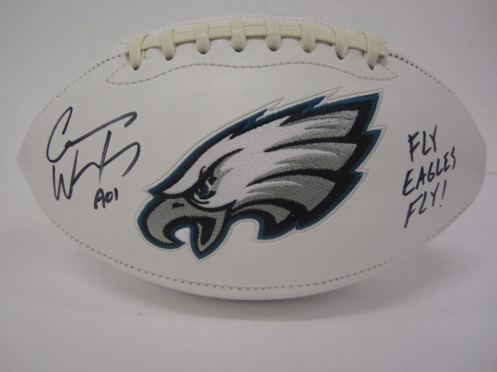 CARSON WENTZ SIGNED AUTOGRAPHED EAGLES FOOTBALL COA
