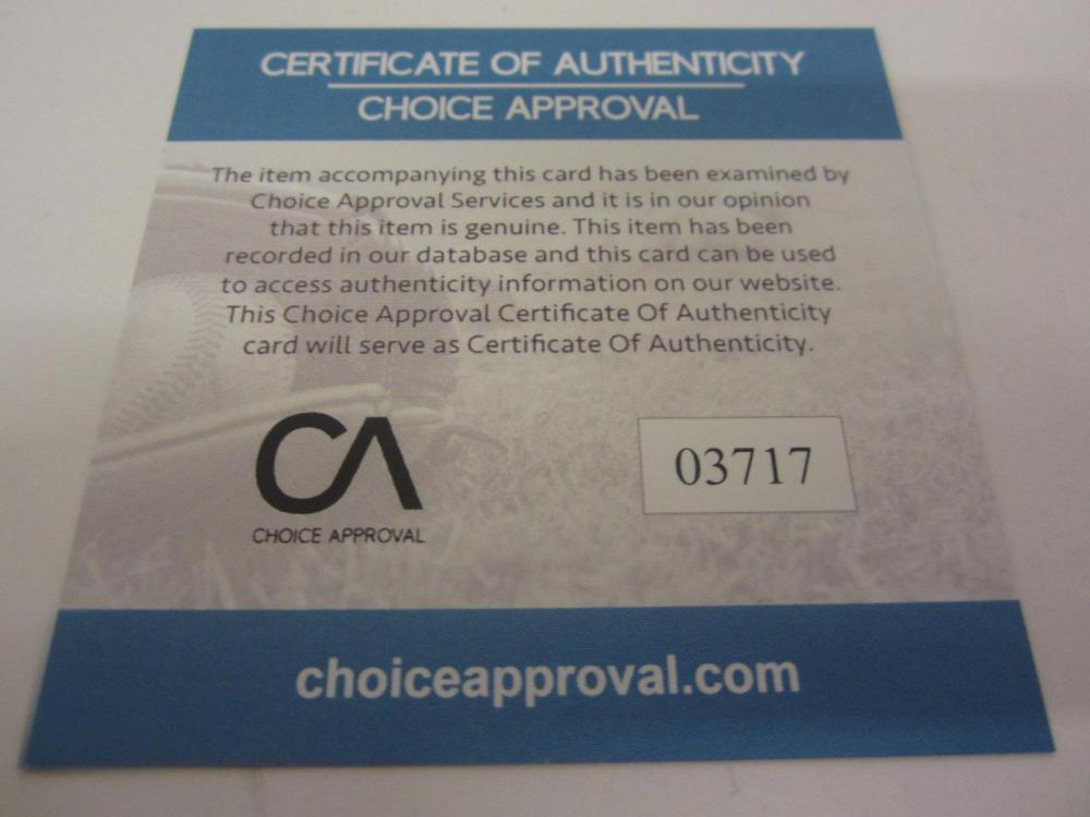 Lot 148: CARSON WENTZ SIGNED AUTOGRAPHED EAGLES FOOTBALL COA