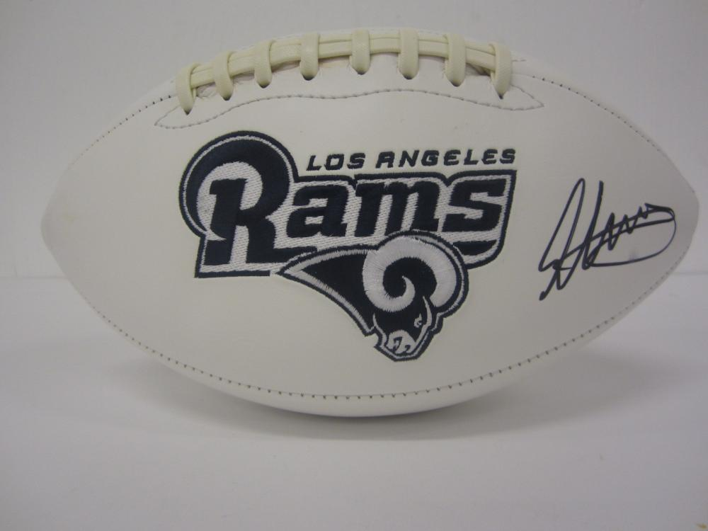 TODD GURLEY SIGNED AUTOGRAPHED RAMS FOOTBALL COA