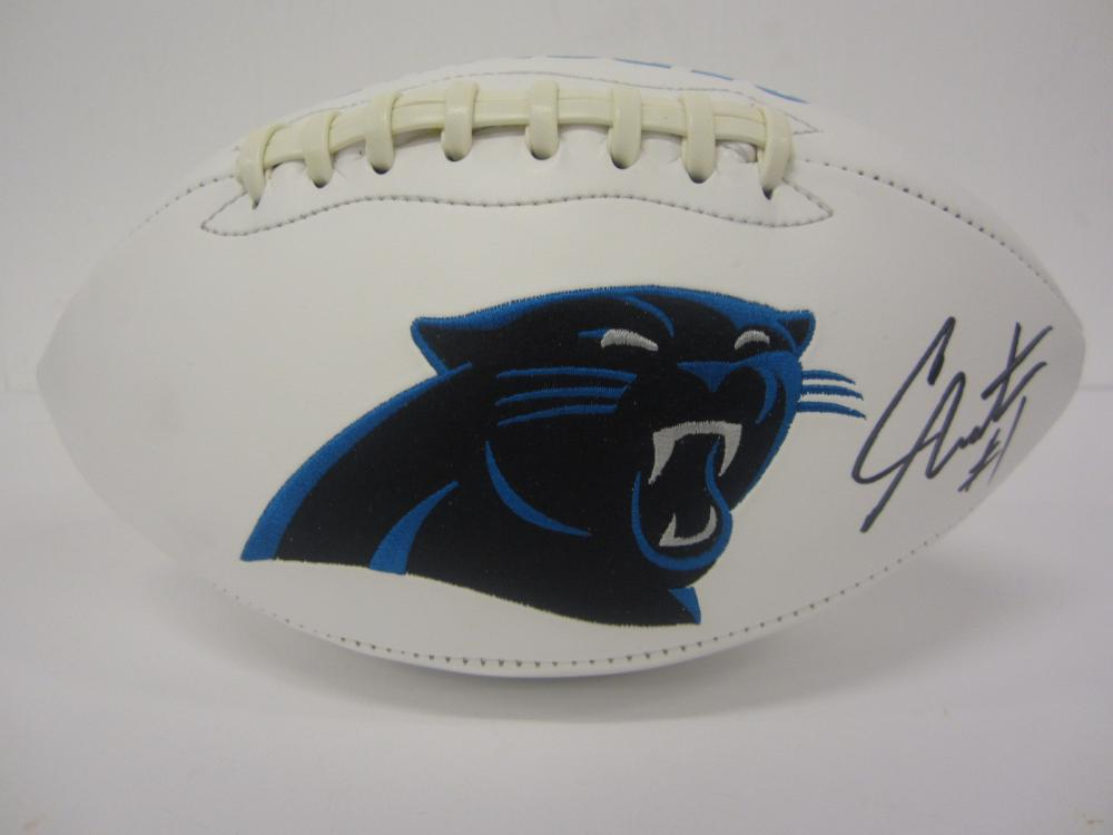 CAM NEWTON SIGNED AUTOGRAPHED PANTHERS FOOTBALL COA