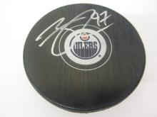 Lot 160: CONNOR MCDAVID SIGNED AUTOGRAPHED OILERS HOCKEY PUCK COA