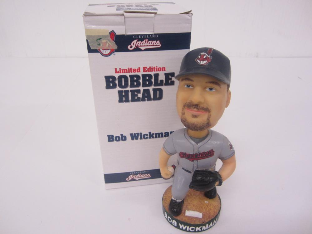 Lot 168: BOB WICKMAN CLEVELAND INDIANS BOBBLE HEAD