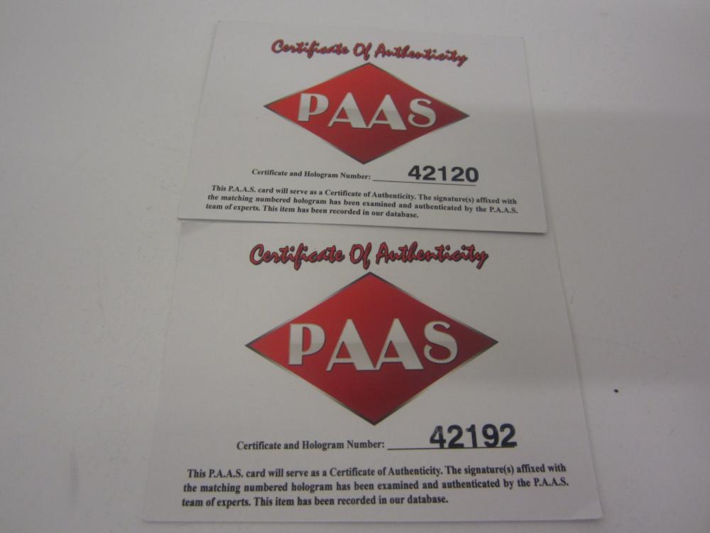 Lot 169: (2)MIGUEL CABRERA SIGNED AUTOGRAPHED MARLINS MINI BATS PAAS COA