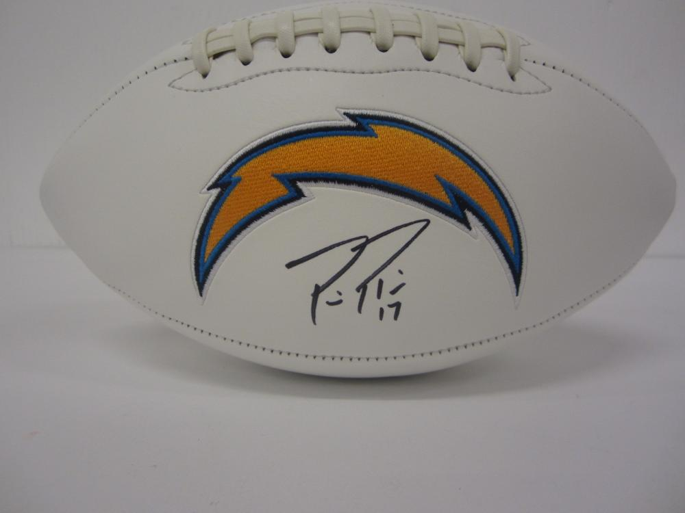PHILIP RIVERS SIGNED AUTOGRAPHED CHARGERS FOOTBALL COA