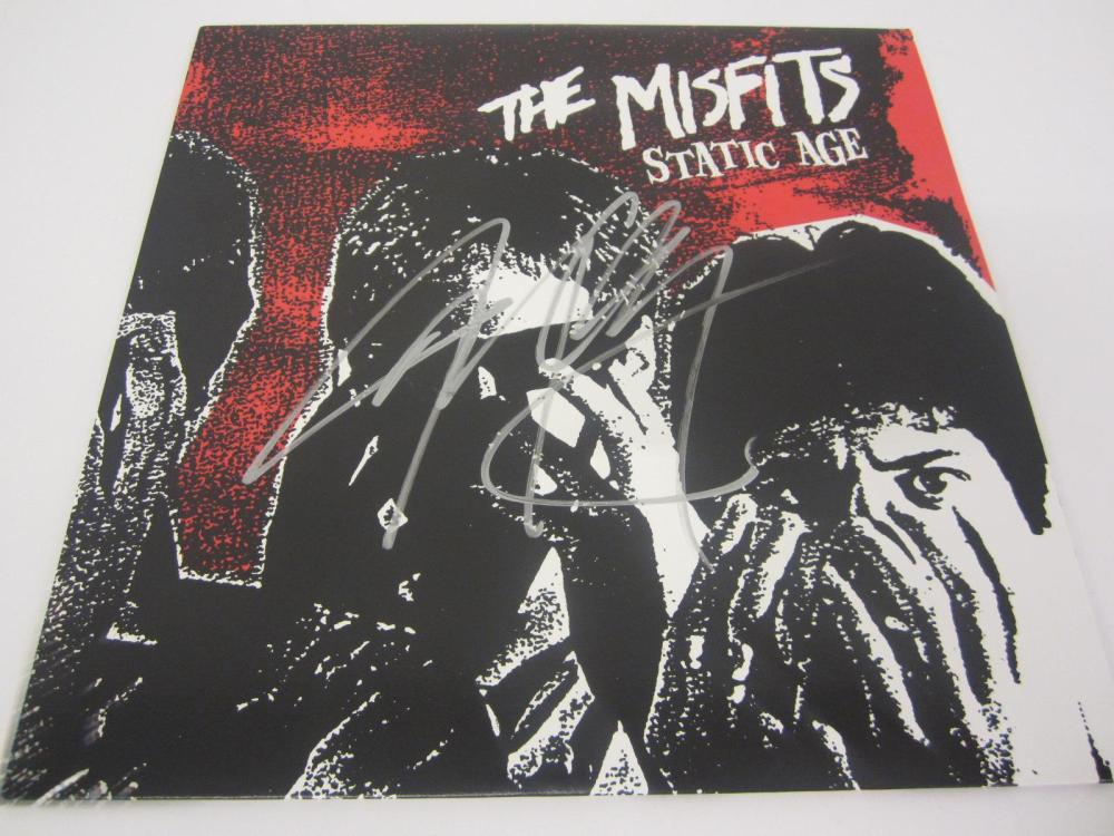 THE MISFITS SIGNED AUTOGRAPHED RECORD COA JERRY