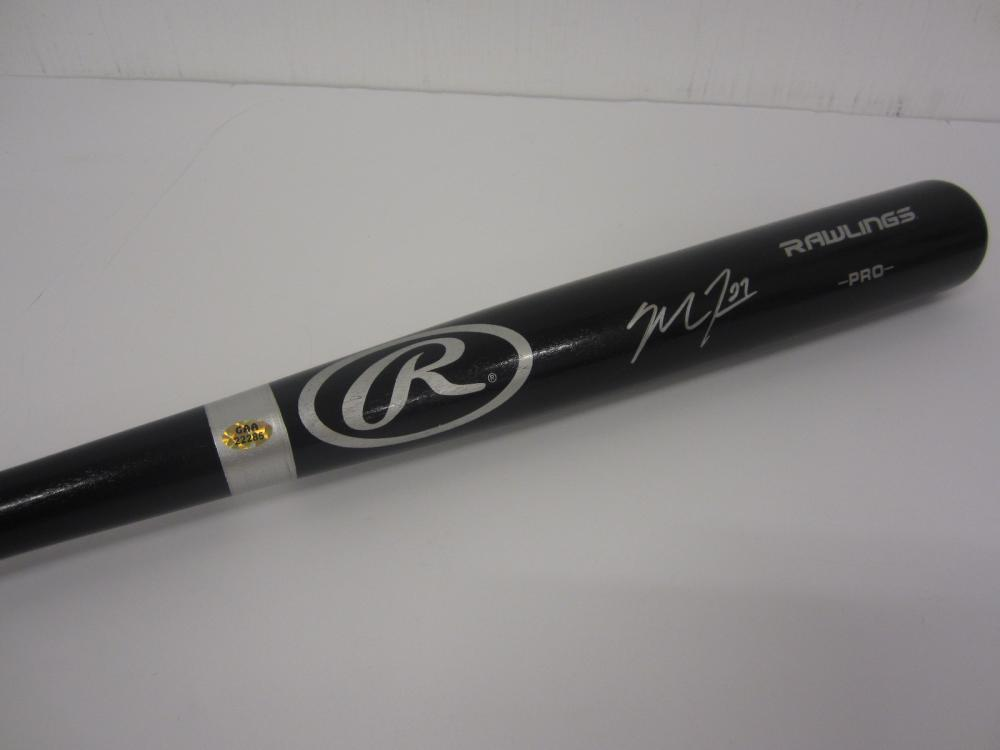 MIKE TROUT SIGNED AUTOGRAPHED BASEBALL BAT COA