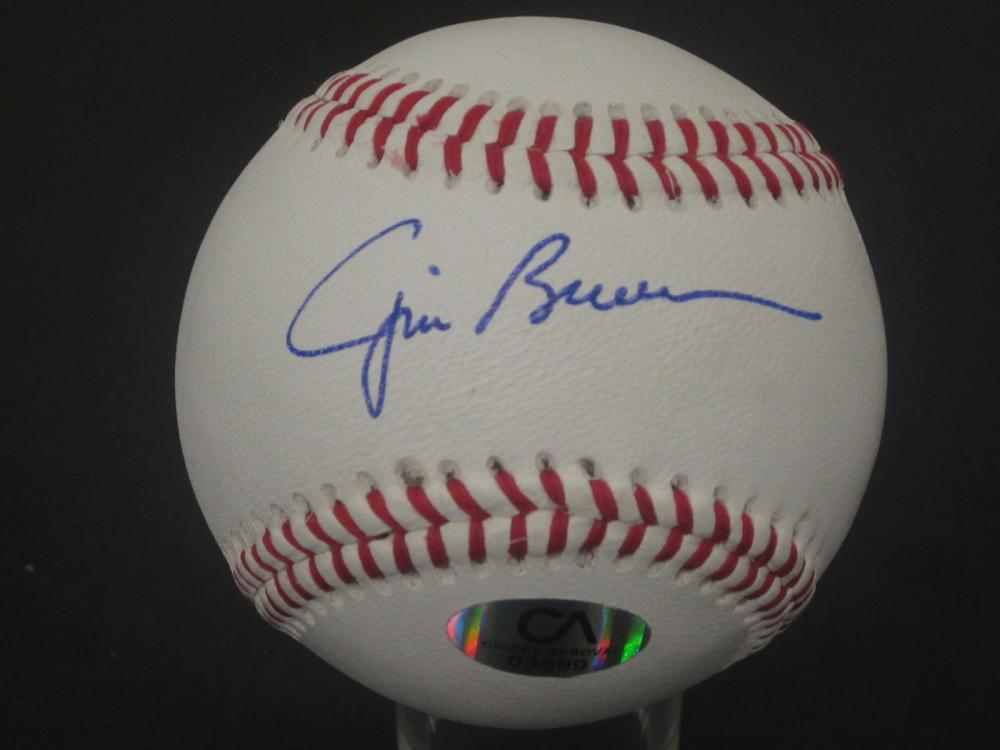 JIM BROWN SIGNED AUTOGRAPHED BASEBALL COA