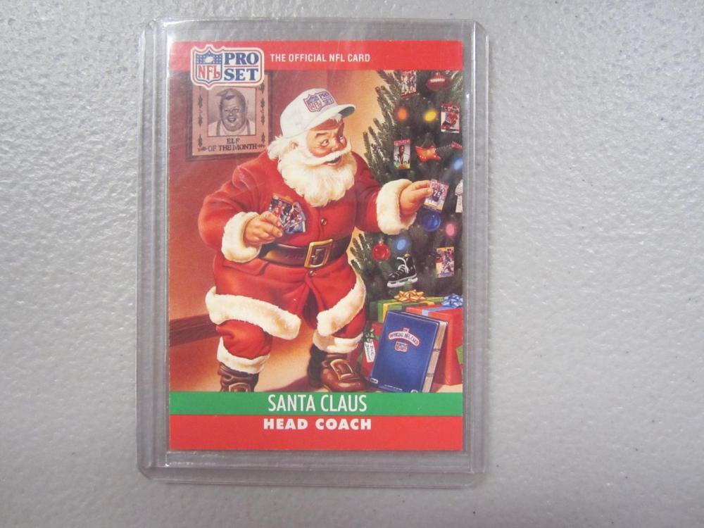 Santa Claus 1990 Pro Set Football Limited Edition Insert SSP