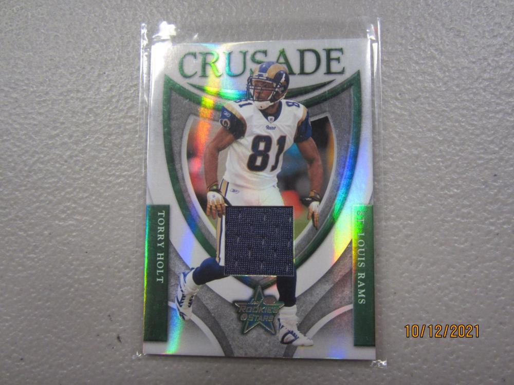 Torry Holt LA Rams 2007 Rookies & Stars Green Crusade game used jersey relic 008/250