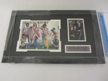 THE ROLLING STONES BAND SIGNED AUTOGRAPHED FRAMED 8X10 PHOTO MICK JAGGER AND OTHERS CERTIFIED AAA COA