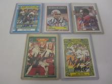 ART MONK REDSKINS SIGNED AUTOGRAPHED LOT OF 5 SPORTS CARDS CERTIFIED COA