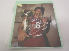 JULIUS ERVING 76ERS SIGNED AUTOGRAPHED 8X10 PHOTO CERTIFIED COA