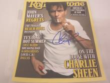 CHARLIE SHEEN SIGNED AUTOGRAPHED 8X10 PHOTO CERTIFIED COA