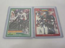 BO JACKSON RAIDERS SIGNED AUTOGRAPHED LOT OF 2 SPORTS CARDS CERTIFIED ALLSTARCERTS.COM