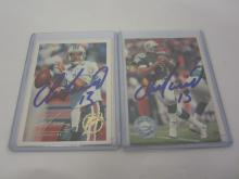 DAN MARINO DOLPHINS SIGNED AUTOGRAPHED LOT OF 2 SPORTS CARDS CERTIFIED COA